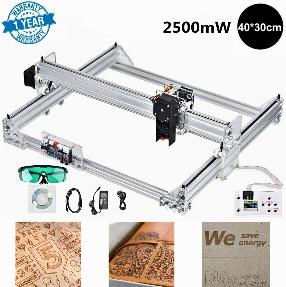 S SMAUTOP Machine de Grabador Laser Kit de Bricolaje Area de Grabado 40x30cm 2 Ejes, Módulo de 2500mW, Controlador Fuera de Línea,GRBL Control Máquina de Tallado Grabador Láser de Escritorio: Amazon.es: Bricolaje