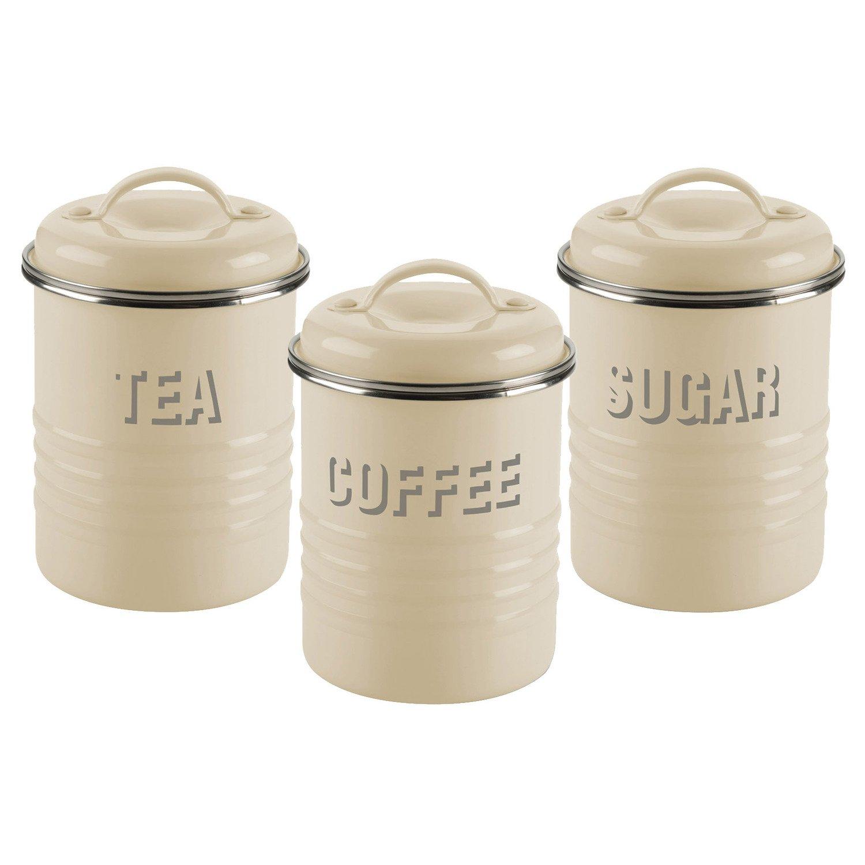 Amazon.com: Typhoon Vintage Kitchen Tea/Coffee/Sugar Canisters ...