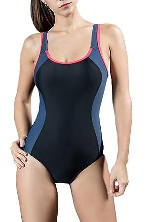 cc9a94ea569 Vocni(ワクニー)フィットネス 水着 ワンピース 大きいサイズ フィットネス水着 体型カバー レディース 女性 競泳