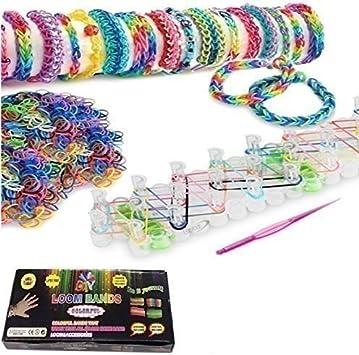 10 x 1 kit de création de bracelets,600 élastiques crochet 30 fermoirs métier
