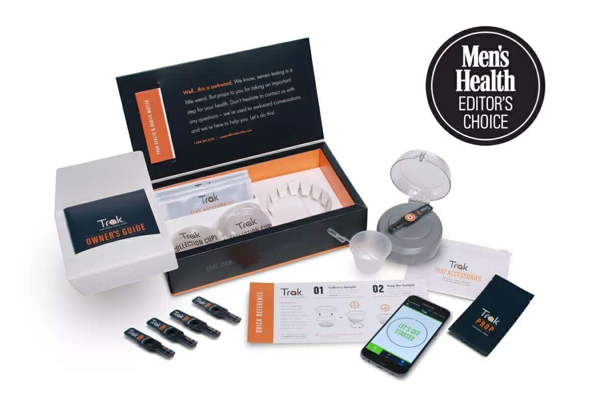 Trak Male Fertility Testing System: 2-Test Kit | Test Sperm Count and Semen Volume at Home | Indicates Results as Low, Moderate, or Optimal for Conception | FSA/HSA Eligible |Accurate as Lab Tests by Trak (Image #1)