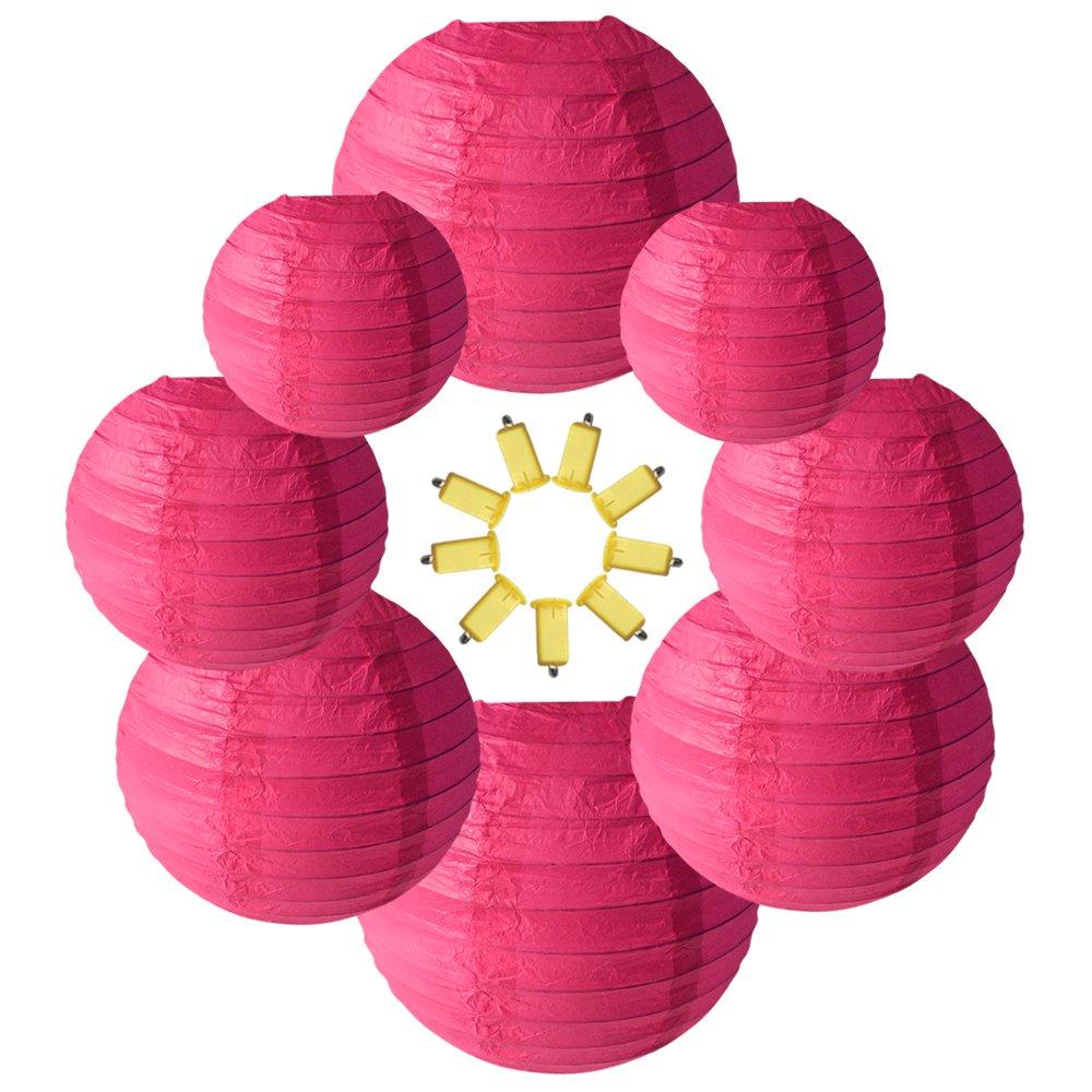 Amazon.com: Neo LOONS Rose Round Chinese/Japanese Paper Lanterns ...