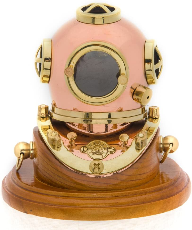"Innovative Scuba Concepts Mark V Commercial Diver 3.5"" Brass Helmet, GP5021"