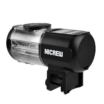 NICREW - Alimentador automático de Peces para Acuario, dispensador de Alimentos para pecera, Temporizador