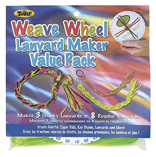 Toner Crafts Weave Wheel Lanyard Maker Value Pack Multicolored - Value Lanyard