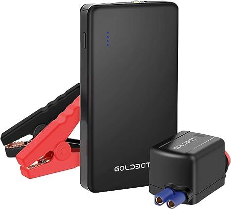 Goldbat Auto Starthilfe Powerbank 700a 8000mah Starthilfe Autobatterie Fur 12v Benzinmotoren Bis 4 0l Mit Intelligent Starthilfekabel Amazon De Auto