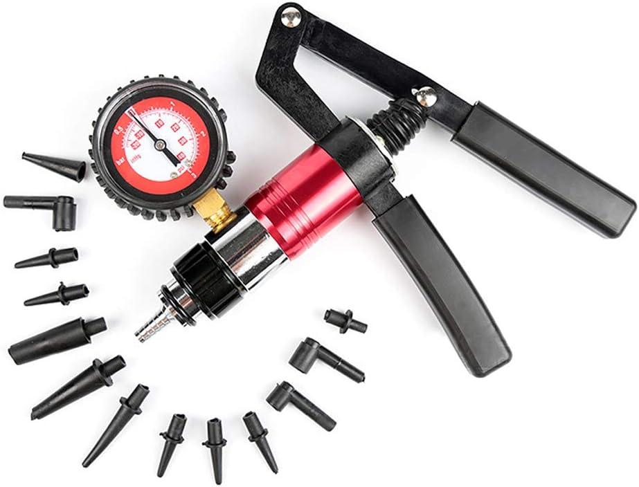 Adattatore Spurgo Freni Tester Serbatoio Fluido Pompa Pressione Vuoto Manuale Professionale KKmoon Tester Pressione per Auto Kit per Test di Emorragia sotto Vuoto Utensili 2 in 1