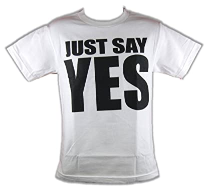 0acb0f7e Amazon.com: WWE Authentic Daniel Bryan Just Say Yes Movement T-Shirt ...