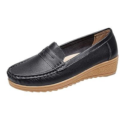 ZARLLE Mujer Mocasines de Cuero Moda Loafers Casual Zapatos de Conducción Cómodos Zapatillas del Barco Sandalias Zapatos Verano Alpargatas Zapatos: ...