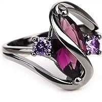 REGOU Engagement Ring Unique Wedding Rings for Women