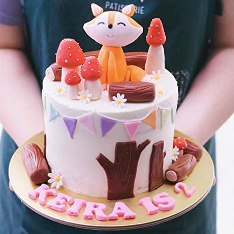 Tremendous Amazon Com Handmade Fox Mushroom Set Cake Topper Woodland Theme Funny Birthday Cards Online Amentibdeldamsfinfo