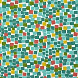 A218 Outdoor Indoor Marine Upholstery Fabric By The Meter | Square Boxes - Green, Teal, Yellow and Red