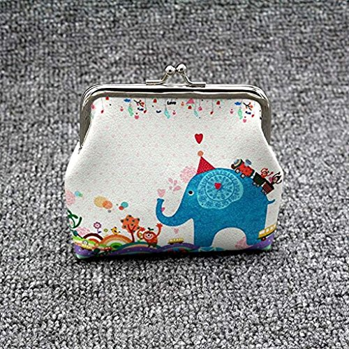 Noopvan 2018 Hasp Clutch Cute Lady Bag Mini Wallets Small Purse Wallet blanc Coin Wallet Vintage Butterfly Clearance Wallet B mont w4ExFrq4p