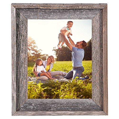 BarnwoodUSA Rustic 11x14 Inch Signature Photo Frame - 100% Reclaimed Wood, Weathered Gray by BarnwoodUSA (Image #1)
