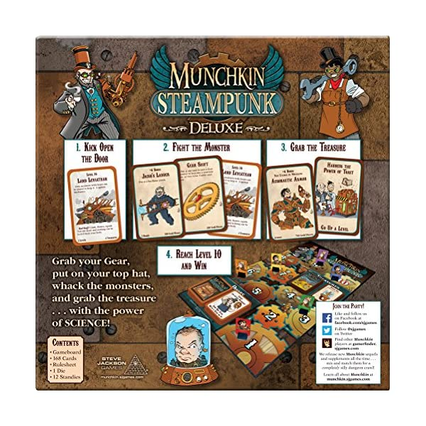 Steve Jackson Games Munchkin Steampunk Deluxe Card Game 4
