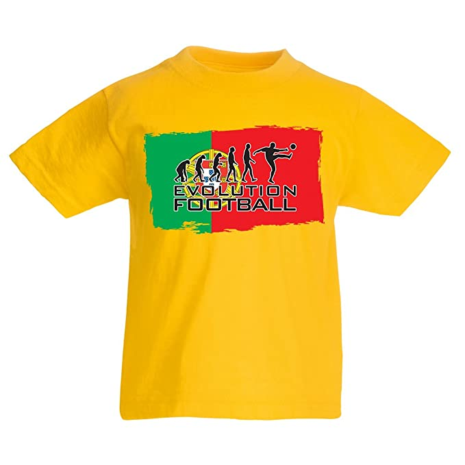 Camiseta Niños/Niñas El Equipo Nacional de Fútbol de Portugal - Evolución, Copa Mundial