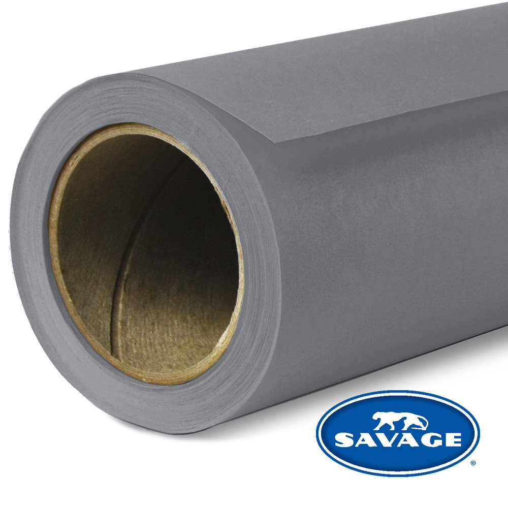Savage Seamless Background Paper - #74 Smoke Gray (107 in x 36 ft) by Savage
