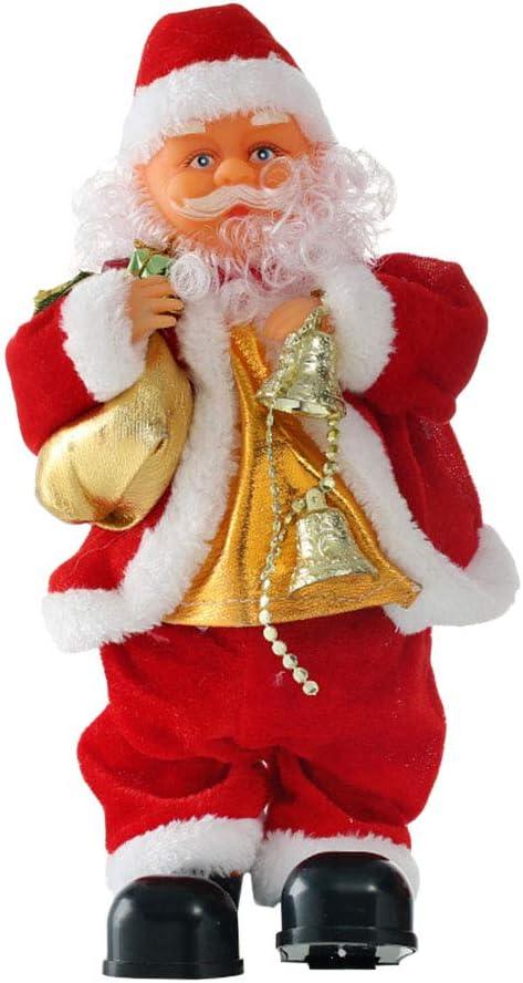 Singing Dancing Santa Claus Light Up Plush Toy Christmas Decoration /& Batteries