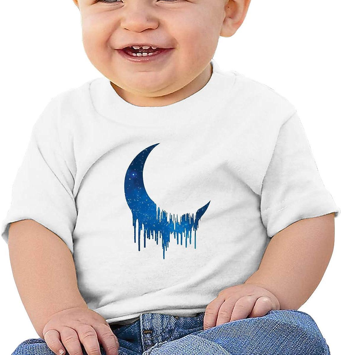 Kangtians Baby Galaxy Moon Dripping Melting Short Sleeve Shirt Toddler Tee