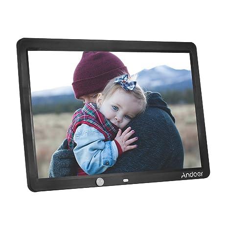 Marco digital para Fotos y vídeos,Andoer 15 Pulgadas Pantalla Grande HD LED Marco de