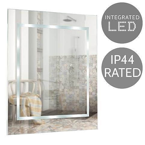 Modern Slim LED Battery Operated Illuminating Rectangular Design Bathroom Mirror