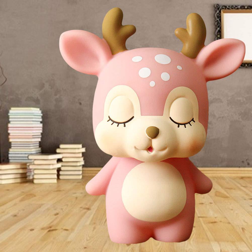 Deer Saving Pot Pink Toyvian Coin Bank Piggy Bank Cash Money Bank for Kids
