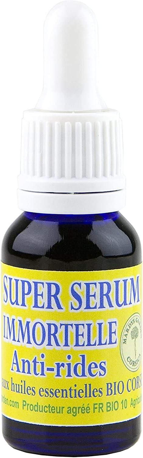 Super Serum Immortelle Anti Rides 15ml Riche En Huile Essentielle Bio Amazon Fr Hygiãšne Et Soins Du Corps