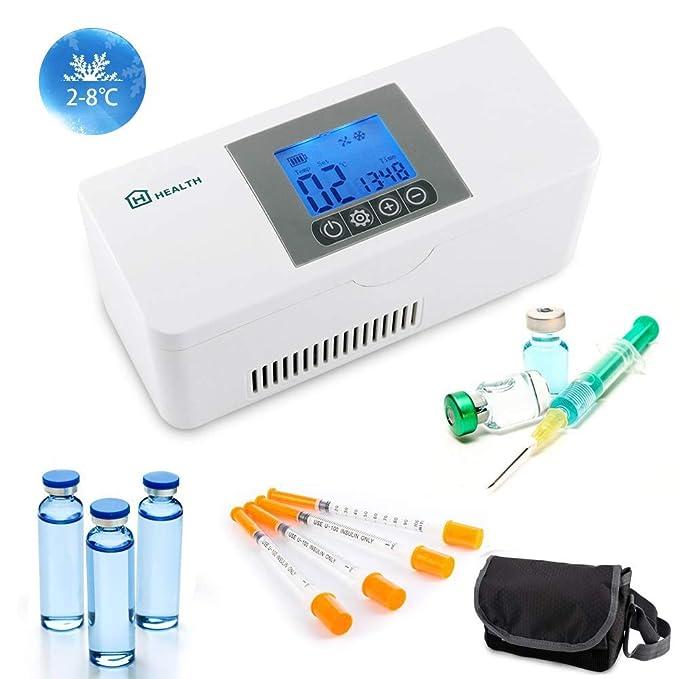 IDABAY Nevera Portátil de Insulina, Caja de Refrigerador de ...