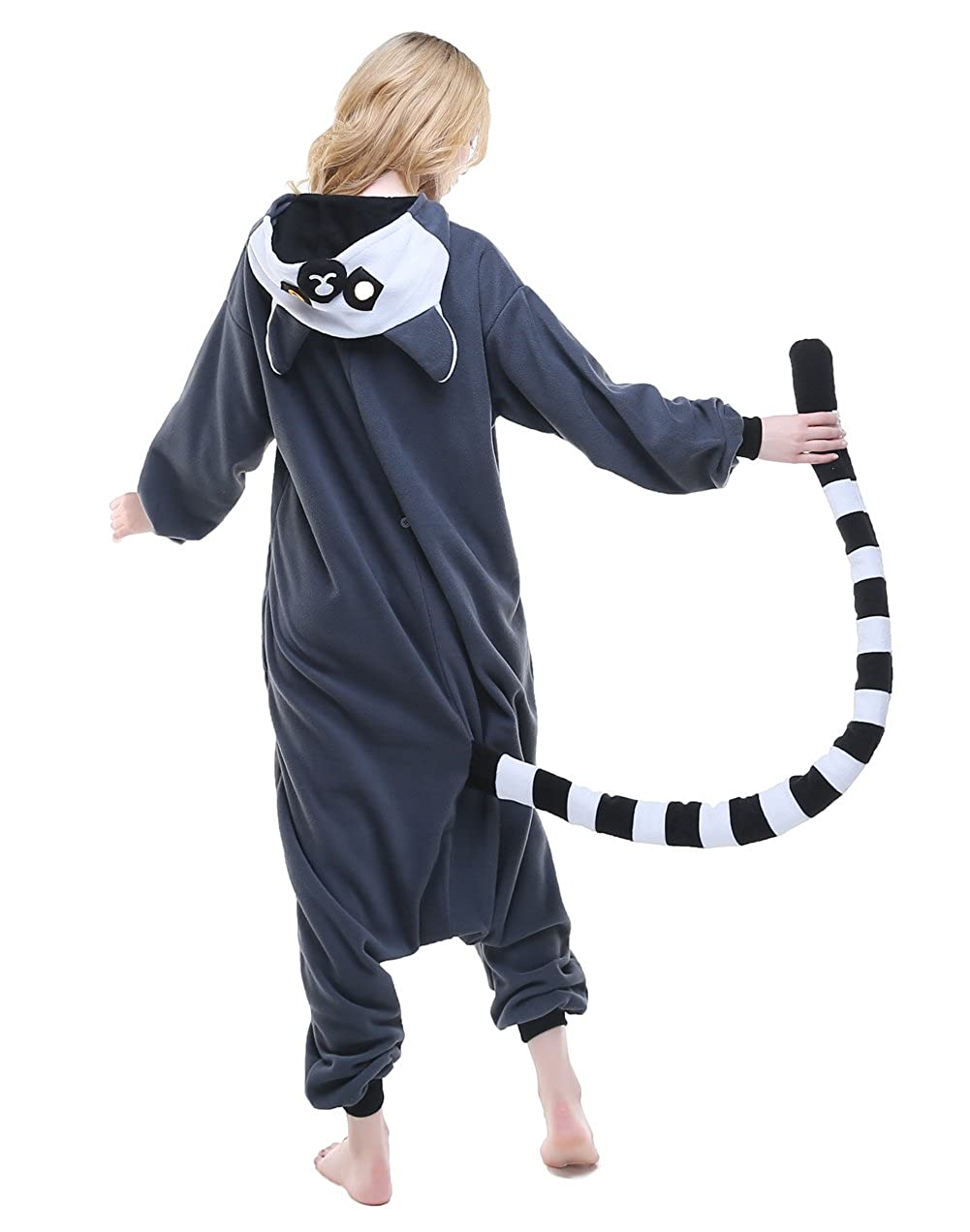 NEWCOSPLAY Adult Unisex Cat Mouse Onesie Pajamas Cosplay Costume