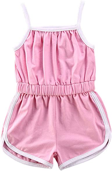 My Heart on Field Summer Baby Sleeveless Romper One-Piece Bodysuit Jumpsuit Outfits