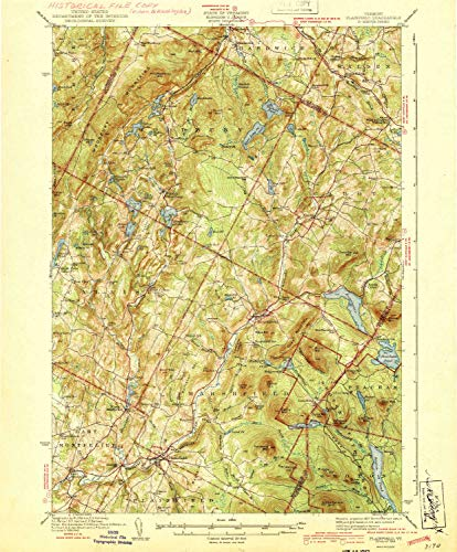 YellowMaps Plainfield VT topo map, 1:62500 Scale, 15 X 15 Minute, Historical, 1943, 19.9 x 16.4 in - Paper -