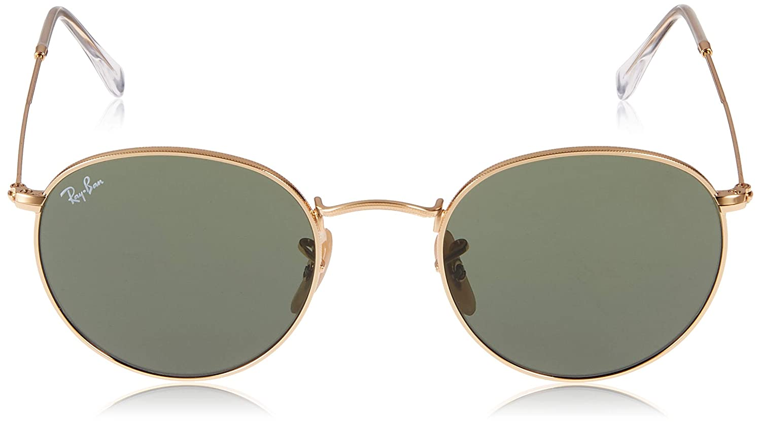 0f908947df Amazon.com  Ray-Ban ROUND METAL - ARISTA Frame CRYSTAL GREEN Lenses 47mm  Non-Polarized  Ray-Ban  Clothing