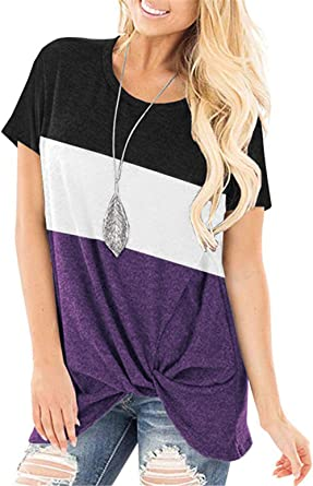 Amazon Coupon Code for Knotted Tops Casual Pocket T Shirts