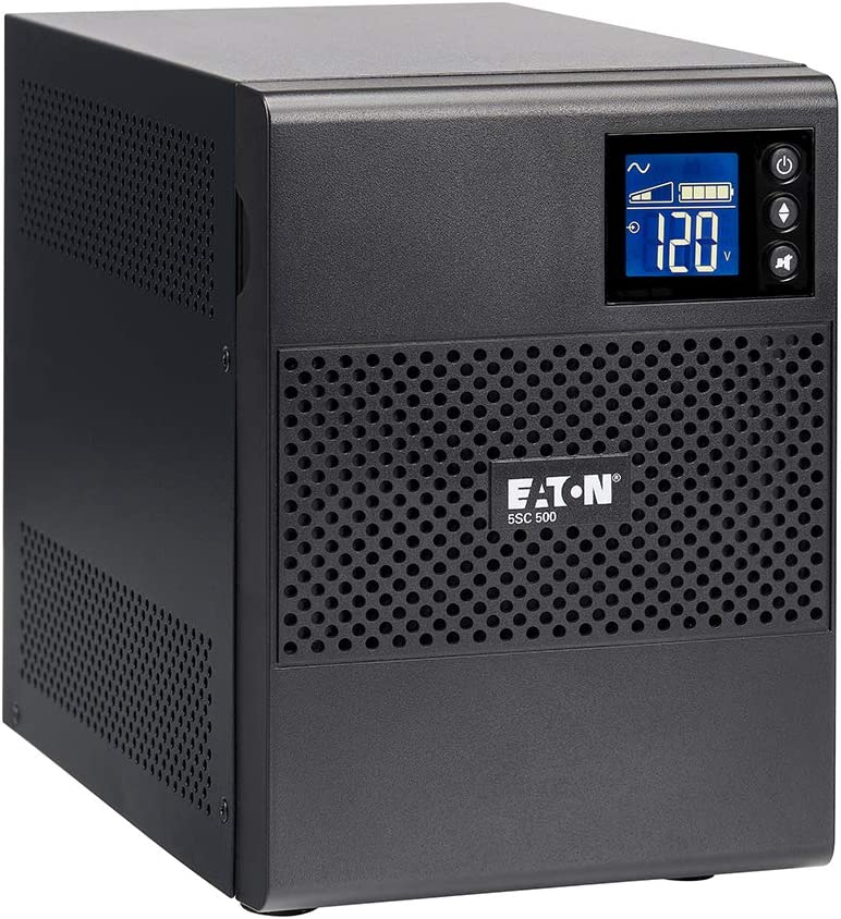 Eaton 5SC1000 Pure Sinewave UPS Battery Backup, 1000VA / 700W, AVR, LCD Display, Line Interactive Uninterruptible Power Supply