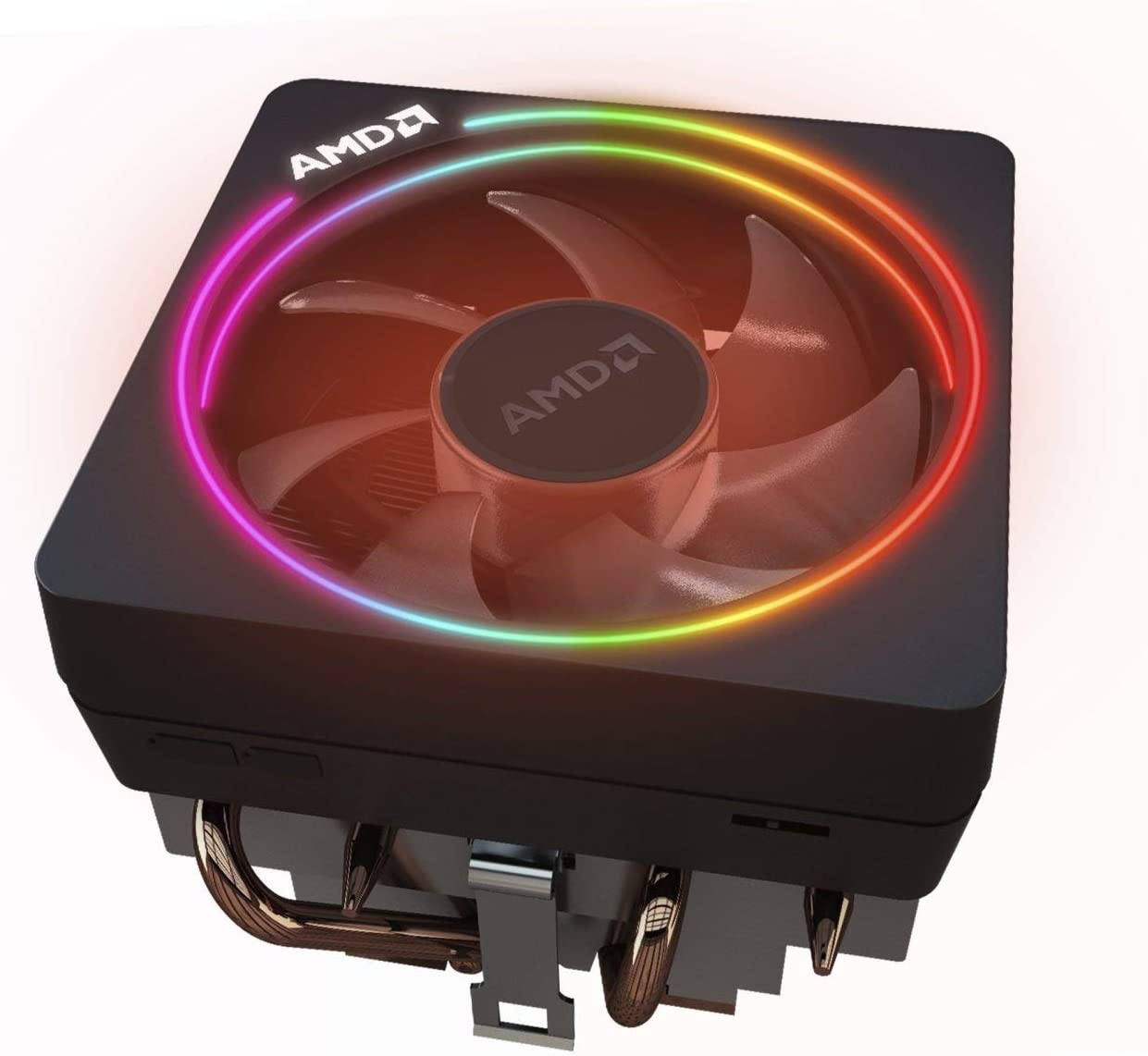 Amazon Com Amd Wraith Prism Led Rgb Cooler Fan From Ryzen 7 2700x Processor Am4 Am2 Am3 Am3 4 Pin Connector Copper Base Alum Heat Sink Computers Accessories