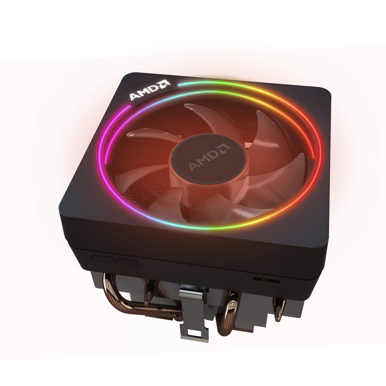 AMD Wraith Prism LED RGB Cooler Fan from Ryzen 7 2700X Processor AM4/AM2/AM3/AM3+ 4-Pin Connector Copper Base/Alum Heat Sink