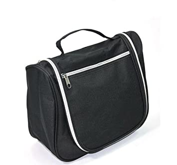 aa0e92e9e6 Amazon.com   Icon Zipper Toiletry Organizer Bag Handing Pouch Outdoor Travel  Cosmetic Makeup Case (Black)   Cosmetic Tote Bags   Beauty