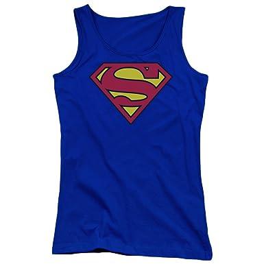 f17c927fe0a98c Amazon.com  Superman - Juniors Classic Logo Tank Top
