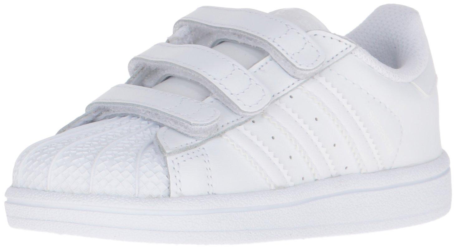 adidas Originals Kids' Superstar Foundation CF I Running Shoe, White, 8.5 M US Toddler