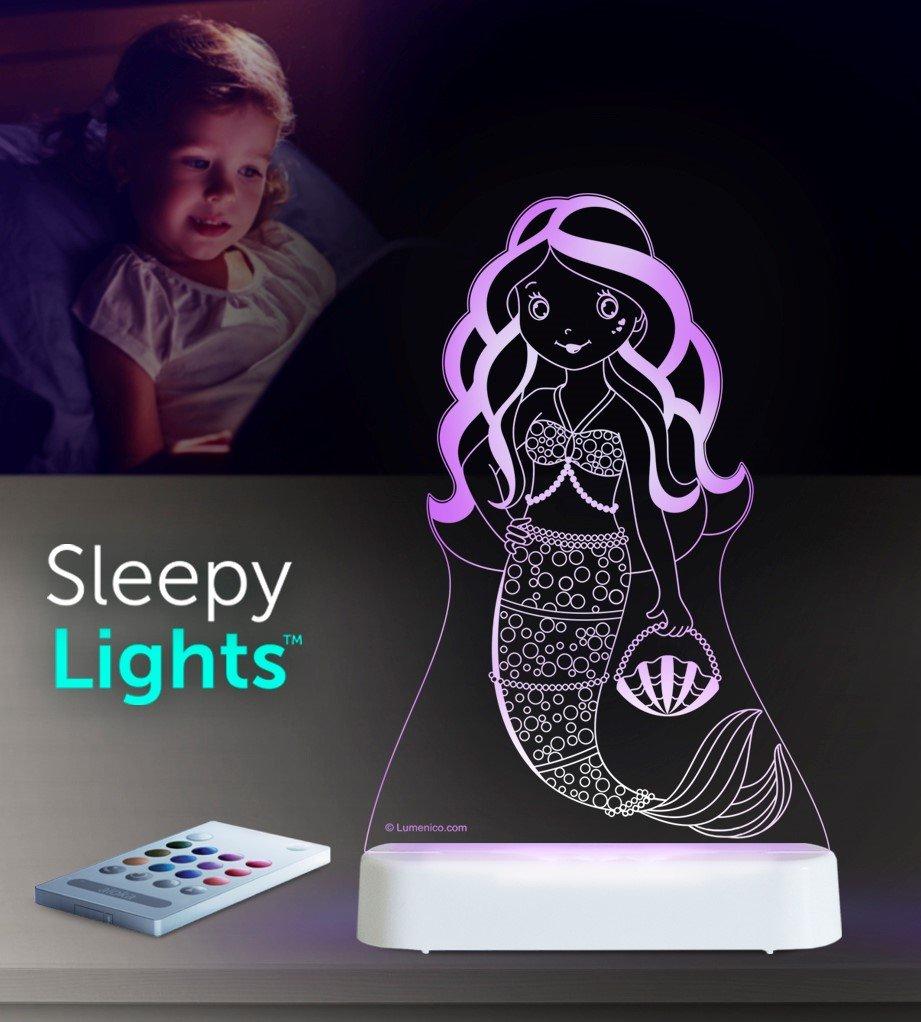 Aloka Mermaid Starlight LED Remote Controlled Decorative Night Light 8 Multicolor 8 Lumenico 0355