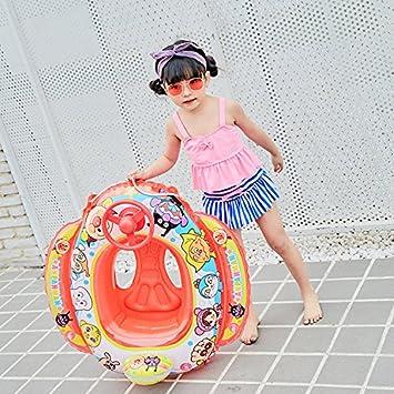 Emsems Baby Pool Floats Anillo de natación para niños, Forma Inflable del Coche del Flotador