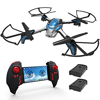 KAI DENG K80 WI-FI RC FPV Drone With Camera Live Video 720P HD - Drones For Beginners Adults Kids - 2.4GHz 4CH 6-Axis Gyro Quadcopter with Altitude Hold Gravity Sensor and Headless Mode RTF Helicopter