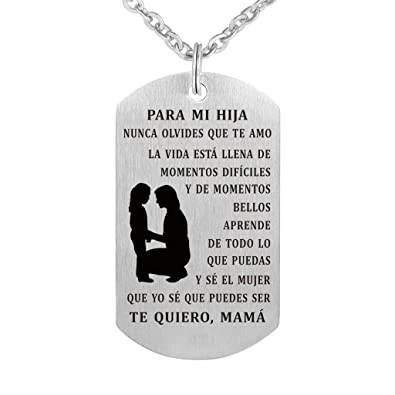 e6e0f682f495a Amazon.com: Freedom Love Gift To My Daughter Dog Tag from Mom ...