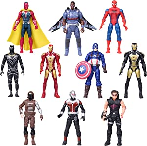 Superhero Adventures Ultimate Super Hero Set, 10 Collectible 6.7-Inch Action Figures, Toys for Kids Ages 3 and Up