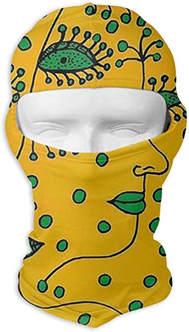 CAClifestyle Abstract Doodle Circles Unisex Windproof Balaclavas Full Face Mask Hood