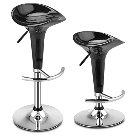 Stupendous Giantex Set Of 2 Bar Stools With Ergonomic Abs Seat U Shaped Footrest And Heavy Duty Metal Base Adjustable Swivel Kitchen Counter Stools Dining Bar Gmtry Best Dining Table And Chair Ideas Images Gmtryco