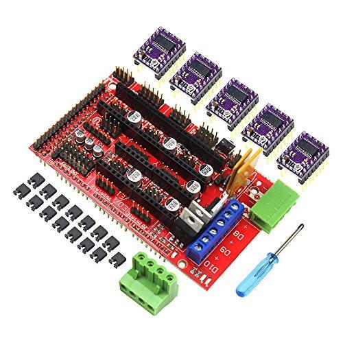 RAMPS 1.4 Controller Board 5PCS DRV8825 StepStick Driver Module For 3D Printer