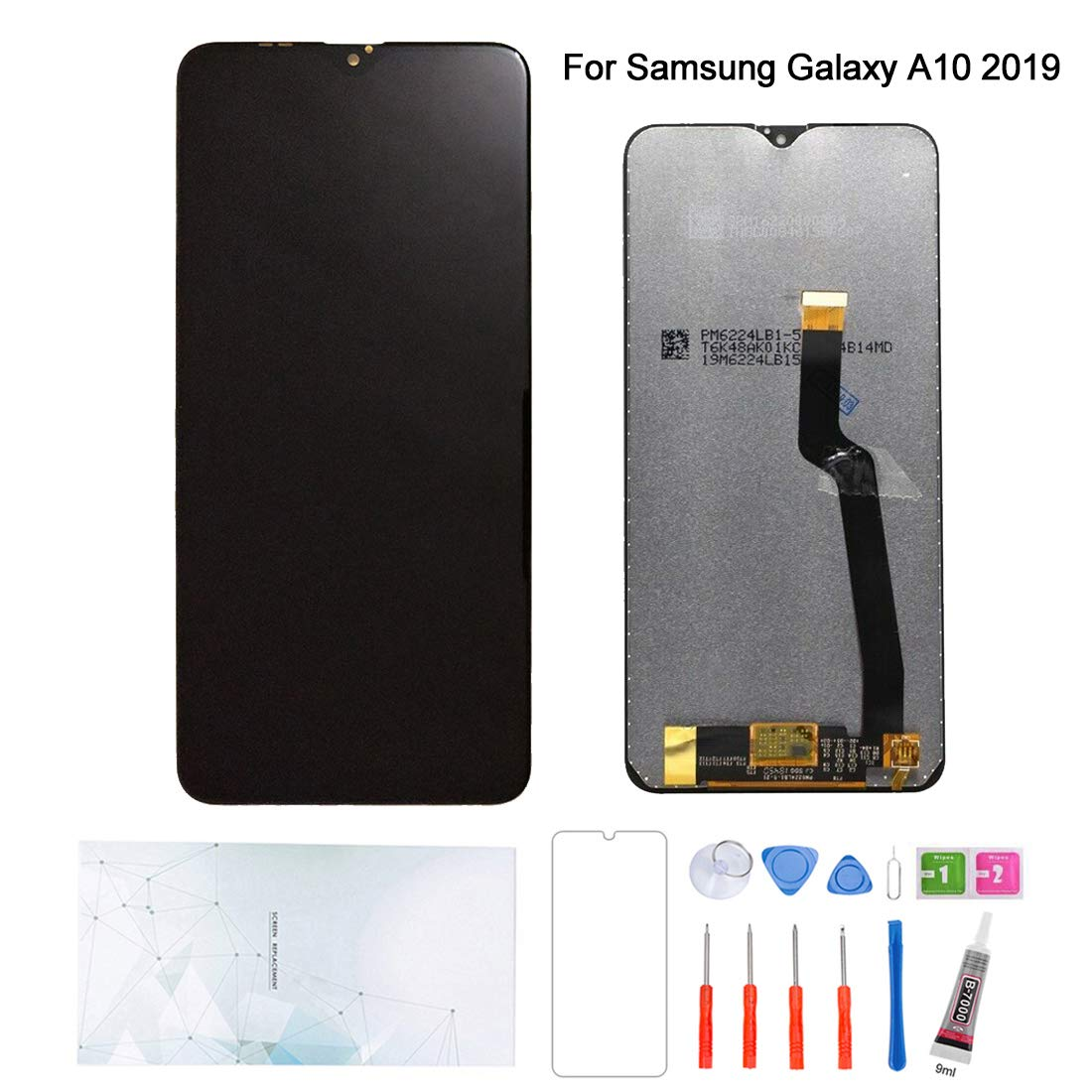 Kosuroum Screen Replacement for Samsung Galaxy A10 (2019) SM-A105F SM-A105G SM-A105M 6.2'' LCD Display Touch Digitizer Assembly Tools (Black) by Kosuroum