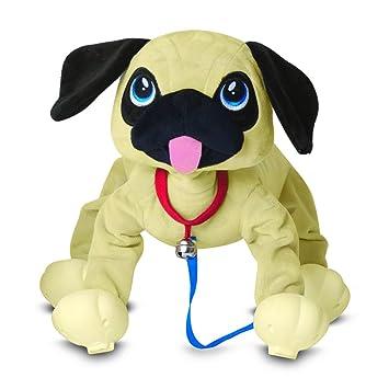 Peppy Pup - Peluche Carlino Camina Contigo (Giochi Preziosi PEP04000)