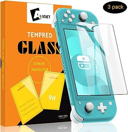 A-VIDET Protector Pantalla Nintendo Switch Lite,Cristal Vidrio ...